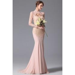 Jemně staro-růžové krásné svatební šaty s bolerkem, zdobeny krásnou krajkou a kamínky