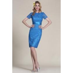 Nové nádherné a velmi elegantní a šik celokrajkové krásně modré šatičky