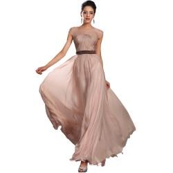Společesnké večerní půvabné šaty s průsvitným dekoltem