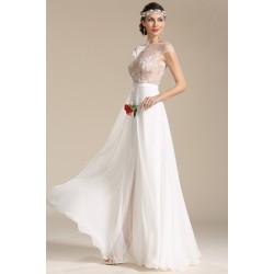 Naprosto ojedinělé a nádherné svatební šatičky s průsvitným krajkou zdobeným topem