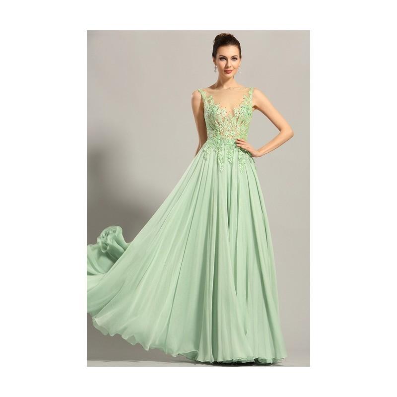 Nové úchvatně krásné světle zelenkavé společenské šaty s výšivkou zdobeným  průsvitným topem ... 05f90105a8