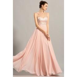 Nové úchvatně krásné světlounce růžové společenské šatičky s výšivkou zdobeným průsvitným topem