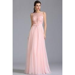 Nové společenské nádherně něžné světle růžové šatičky bez rukávů s ojedinělou výšivkou na průsvitném topu
