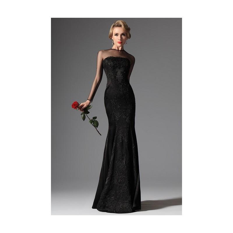 ... Nové dlouhé černé velmi elegantní nádherné večerní šaty celo-krajkové  ve střihu mořské panny ... ca6f54fab1