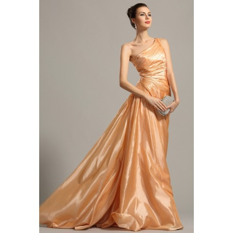 Spolecenske Elegantni Jednoduche Oranzove Rasene Saty Na Jedno