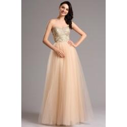Společenské překrásné půvabné šaty s tylovou sukní a luxusně krajkou  zdobeným živůtkem 22365e50d2