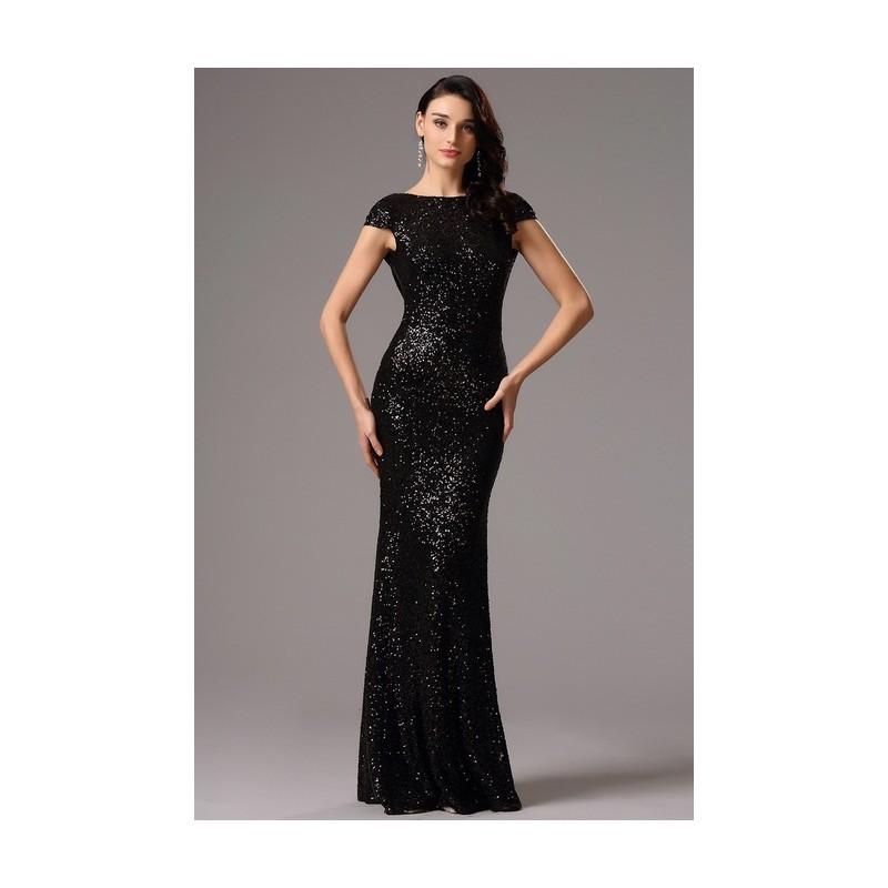 Společenské noblesní celo-flitrové černé šaty s odhalenými zády f7905736f5