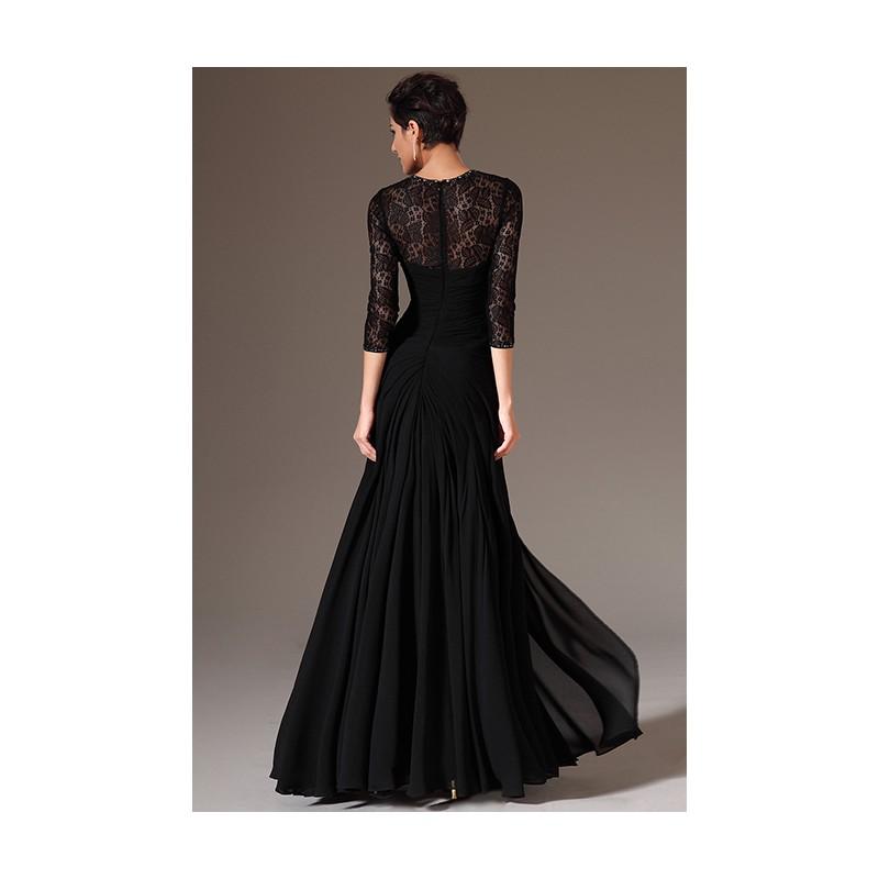 f5e2bcc6c9 Společenské velmi oblíbené elegantní černé šaty s dlouhým rukávem ...