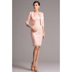 76f1c46e99f4 Půvabné nádherné světle růžové krajkové koktejlky se saténovám kabátkem