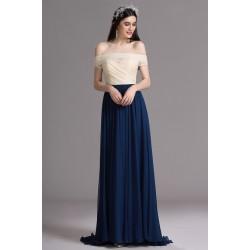 Společenské jednoduché a půvabné dlouhé tmavě modré šaty s vintage  knoflíčky na zádech f106ddb28d