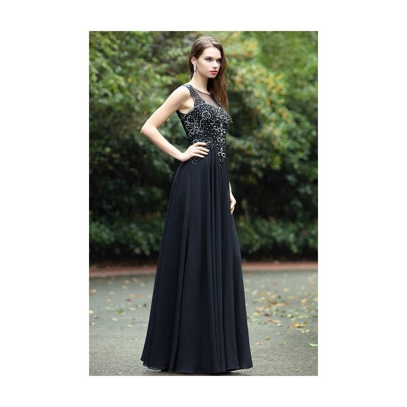 0f05eb304be ... Společenské krásné a působivé černé dlouhé šaty se zdobeným živůtkem a  svůdným šňěrováním na zádech ...
