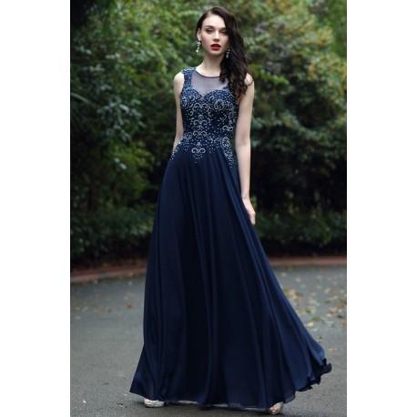Společenské krásné a působivé královsky modré dlouhé šaty se zdobeným  živůtkem a svůdným šňěrováním na zádech 38bb0e78a3
