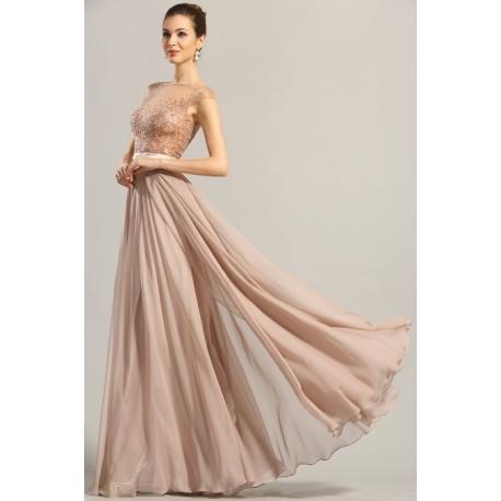 9bbf2342e680 Nové překrásné pudrově růžové společenské šaty s luxusně průsvitným  zdobeným živůtkem
