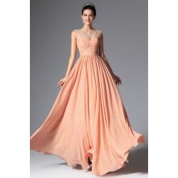 6026dab98aa Nové velmi půvabné světle lososové šaty bez rukávů s ručně kamínky zdobenou  krajkou kamínky
