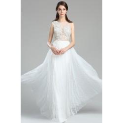 Nové překrásné vílý romantické svatební šatičky s průsvitným květinovým topem a tylovou sukní