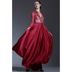Společenské večerní ojedinělé bordó šaty s celokrajkovým topem 123cb11bd26