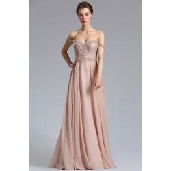 a429dca7a74 Velice půvabné a vznešené dlouhé starorůžové šaty s nádherně zdobeným  živůtkem a spadlými ramínky