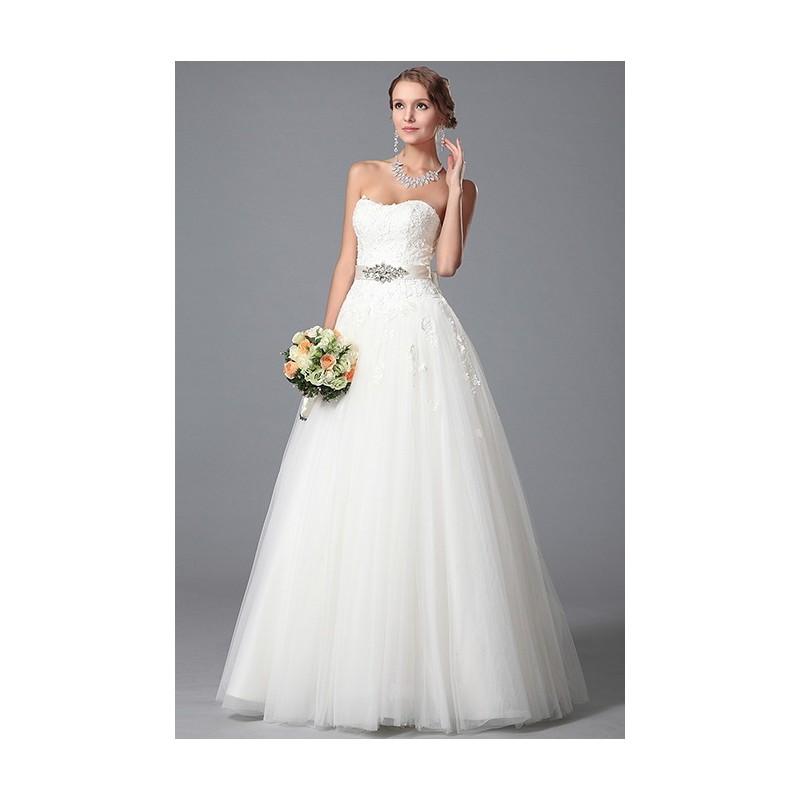 105c4df36f1d Svatební princeznovské nádherné bílé krajkové svatební šaty s nadýchanou  tylovou sukní a saténovým páskem s broží ...