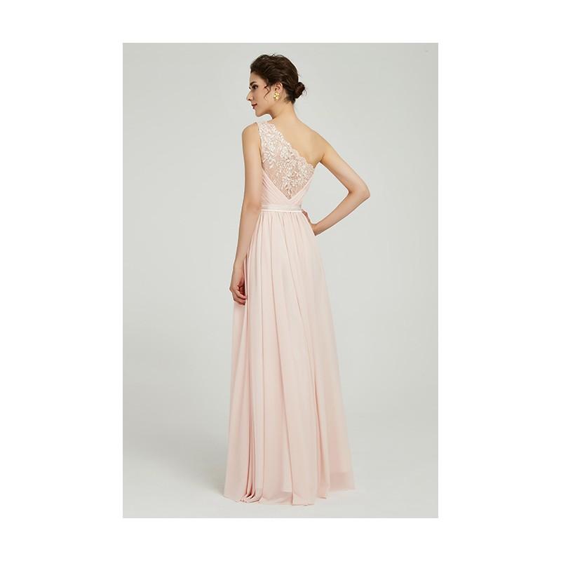 8960764f25c Půvabné jednoduché romantické antické světlounce růžové šaty na jedno rameno  s krajkou na zádech ...