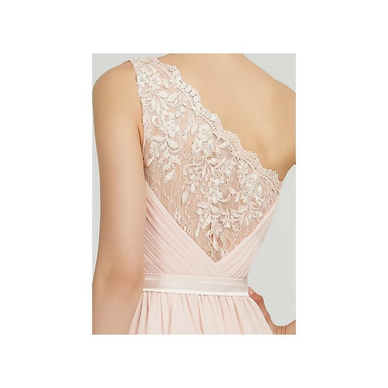 917a94e2de1a ... Půvabné jednoduché romantické antické světlounce růžové šaty na jedno  rameno s krajkou na zádech ...
