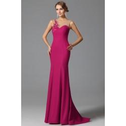 Společenské nádherné nové sytě růžové šaty s krajkovou výšivkou na průsvitném topu