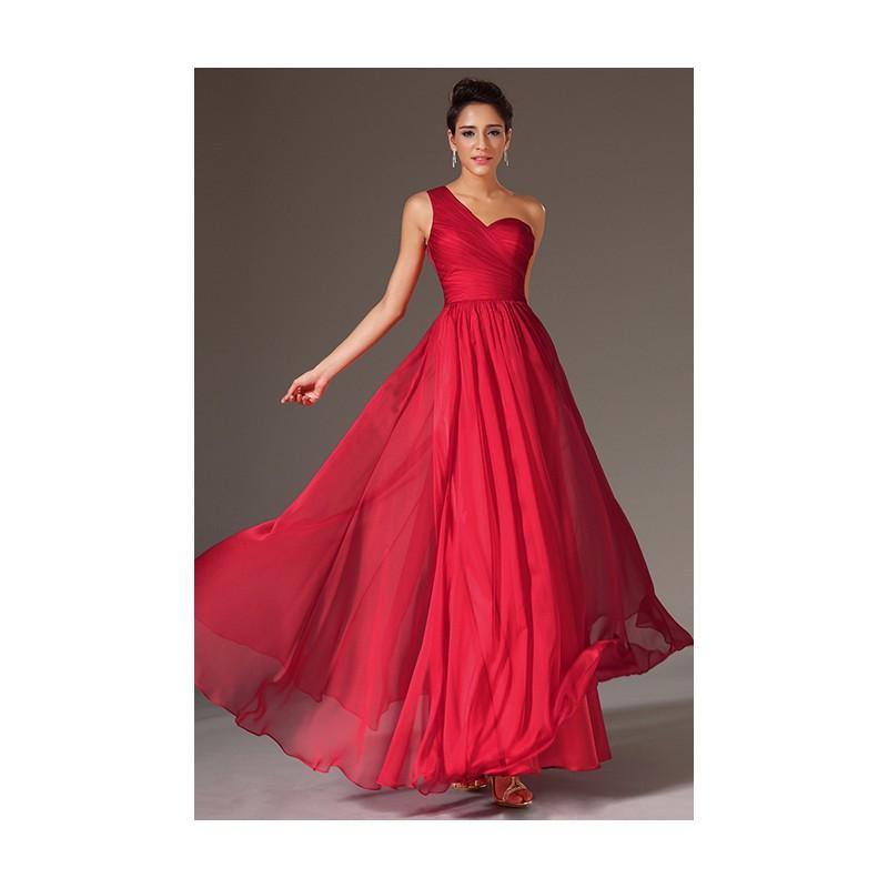 95c5309021c Společenské večerní luxusní tlumeně červené šaty na jedno rameno s  krajkovými zády