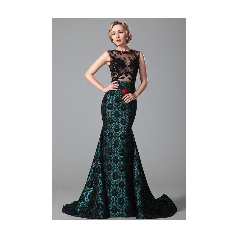 Společenské dech beroucí šaty pošité celé květinovou aplikací ve stylu retro  s průsvitným krajkovým zdobeným topem ... 90611939ac